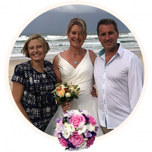 Brisbane Marriage Celebrant Bronwyn Saleh Beach Wedding