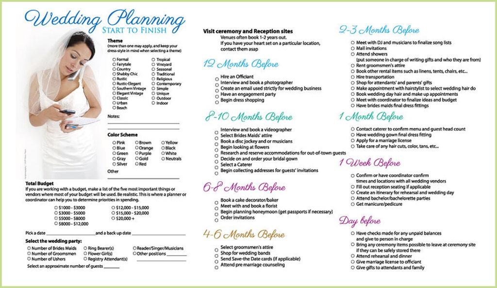 Wedding Plan Checklist Brisbane