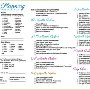 Wedding Plan Checklist Brisbane