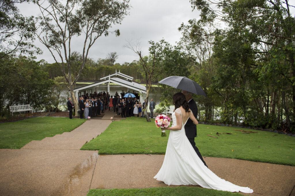 Raining on your wedding day