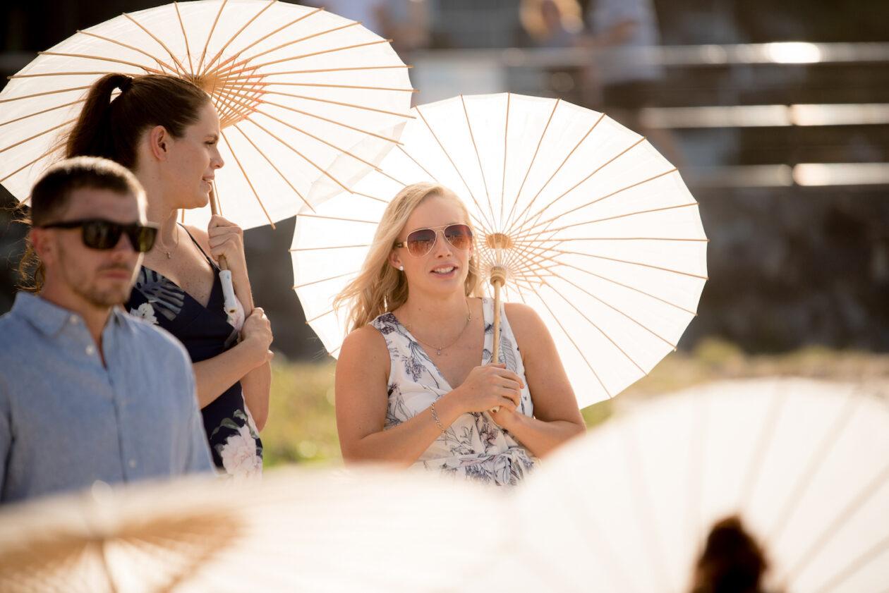 Beating the heat in a Brisbane summer wedding